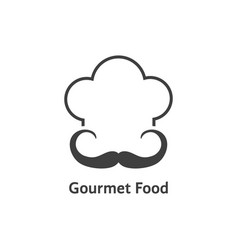 black gourmet food logo vector image vector image