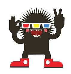Cinema monster vector image vector image
