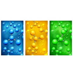 Color molecules background vector image vector image