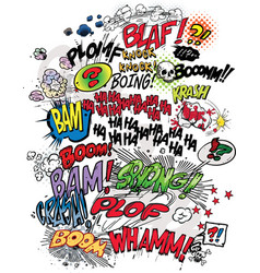 comic book words vector image vector image