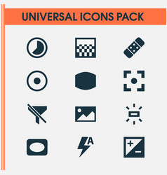 image icons set with mode plaster picture and vector image