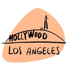 Los Angeles California USA Hollywood vector image