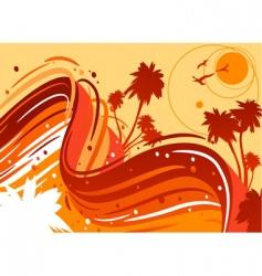 tropical sun vector image vector image