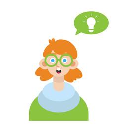 boy thinking idea vector image