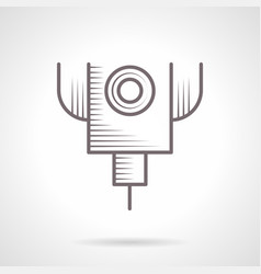 Laser cut machine vintage icon vector