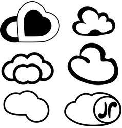 messages in the form of clouds vector image