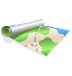 Rolled map vector image