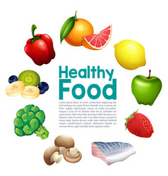 a healthy food template vector image