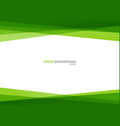 Abstract geometric green color shiny overlapping vector