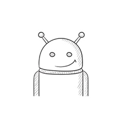 Android sketch icon vector