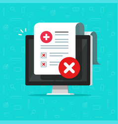 bad medical check or diagnosis document vector image