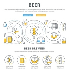 Beer Web Banner vector