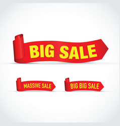 big sale set of signs vector image