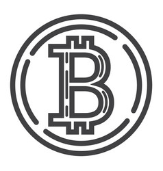 Bitcoin coin line icon business and finance vector