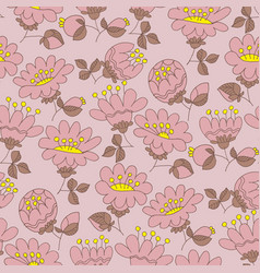 blossom hand drawn seamless pattern vector image