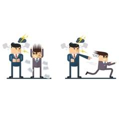 businessman chief berates subordinate vector image
