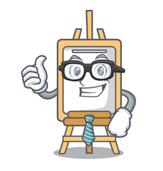 businessman easel character cartoon style vector image
