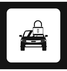 Car is under protection icon simple style vector image vector image