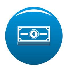 Cash money icon blue vector