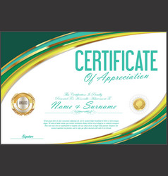 Certificate retro design template 06 vector