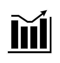 chart infographic graph diagram a single icon vector image