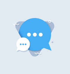 Chat speech flat icon vector