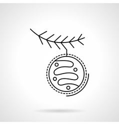 Christmas decoration flat black line icon vector image