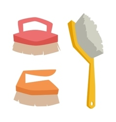 cleaning brush icon flat modern design vector image