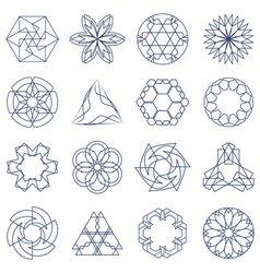 Collection of different graphic elements for desig vector