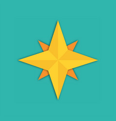 Compass icon main directions flat design vector