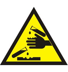 corrosive warning sign vector image