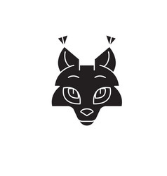 coyote head black concept icon coyote head vector image