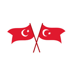 Cumhuriyet bayrami celebration day with turkey vector