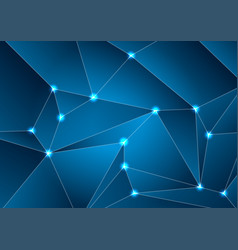 dark blue tech abstract polygonal background vector image