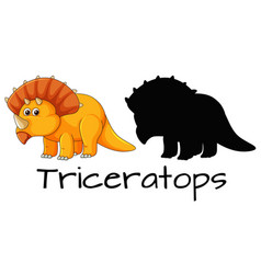 design of triceratops dinosaur vector image