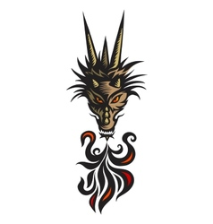 Dragon tattoo vector image