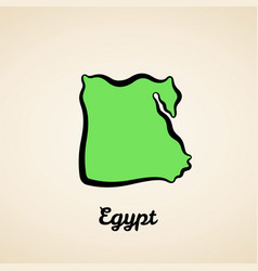 egypt - outline map vector image