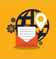 Envelope and digital marketing design vector