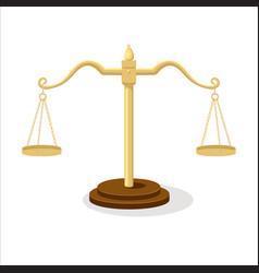 Equilibrium scales cartoon vector