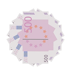 Euro banknotes vector image