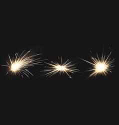 fire sparks metal welding fireworks vector image