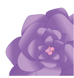 flower isolated background vector image
