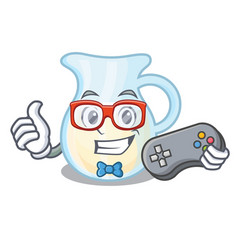 Gamer milk jug completely filled with character vector
