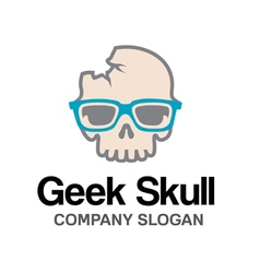 Geek Skull Design vector