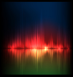 green-red-blue wave abstract equalizer background vector image