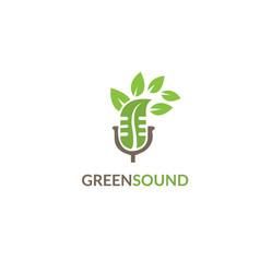 green sound logo vector image