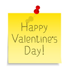 Happy Valentines day congratulation vector image