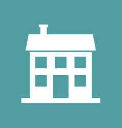 House icon in flat style on isolated background vector