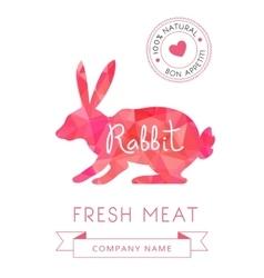 Image meat symbol rabbit silhouettes animal vector