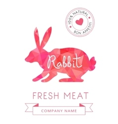 Image meat symbol rabbit silhouettes of animal for vector image